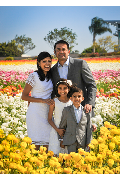 Family Session at Carlsbad Flower Fields