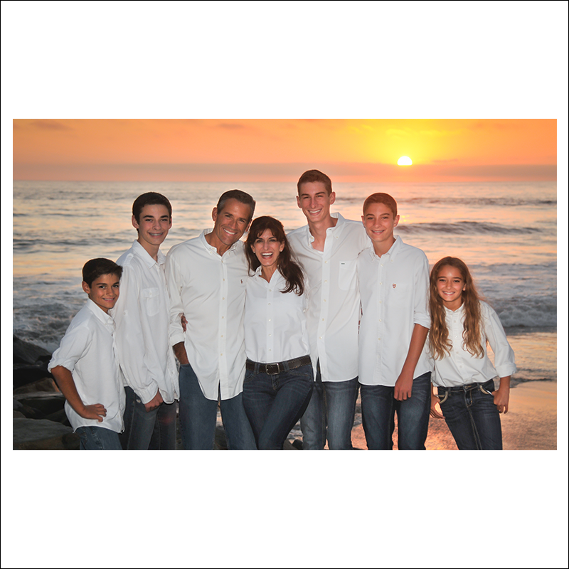 Carlsbad Family Sunset session by Jeff Kassebaum Photography