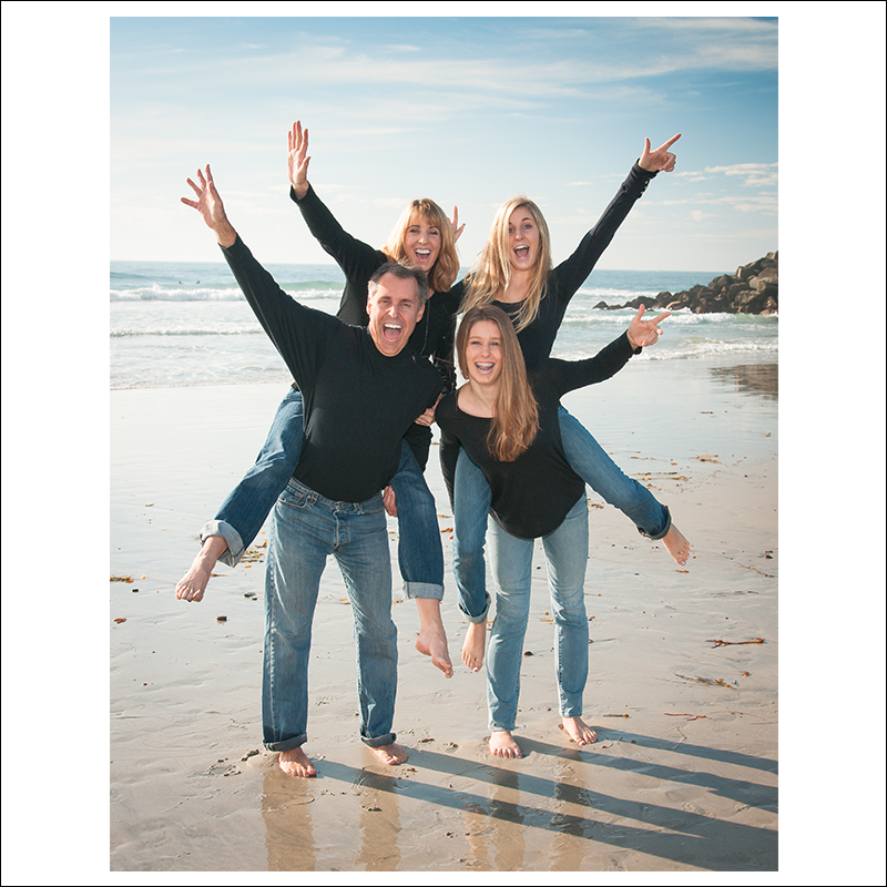 Typical fun family session  in Carlsbad